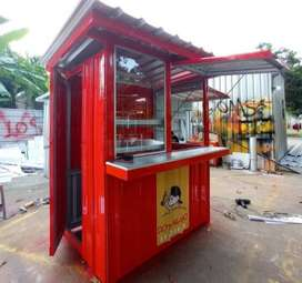 HEMAT ! booth, gerobak, container, kontainer, rombong