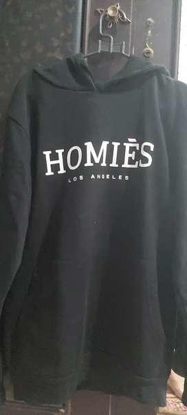Hoodie homies hitam