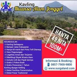 Jual Nuansa Alam Jonggol Kavling Murah View Gunung yg Indah Strategis