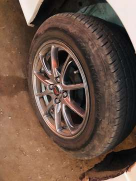 New tyre with rims of honda city 96 percent