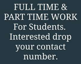 Part time work opportunity for freshers