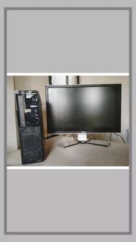 Lenovo dell I5 desktop with 24 inch led