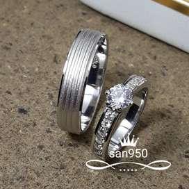 cincin nikah emas putih dan platina