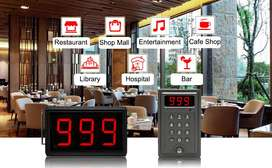 Display With Buzzer Wireless Calling System Queue Management System