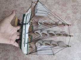 Wooden Sailing Ship Nautical Showpiece