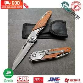 57HRC Doom Blade Pisau Lipat Berburu Survival Tactical Knife EDC 200mm