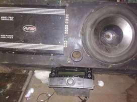 satu set audio mobil
