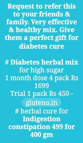 Anti diabetes herbal-cure powde for recovery & reversal