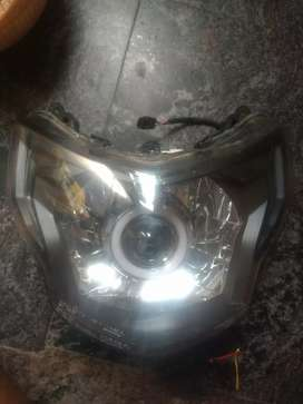 Apache 200 4v headlamp with projector light