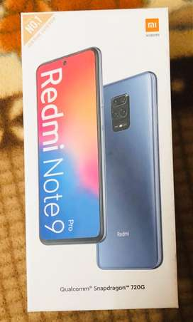 Redmi note 9 pro 6gb 128gb sealed box with bill