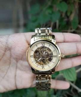 Jam tangan biden automatic warna gold lengkap dan water resistance