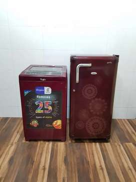 Whirlpool 190ltrs single door refrigerator n washing machine