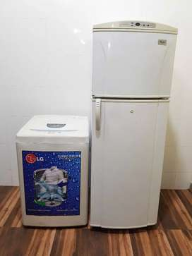 Whirlpool 240 ltrs refrigerator and lg top load washing machine