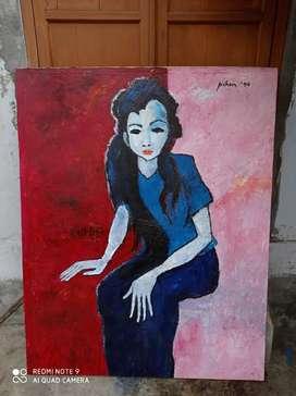 Lukisan Wanita Karya Jeihan Tahun 1990