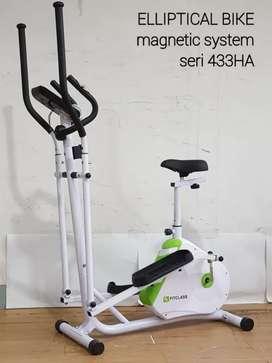 Sepeda fitnes jogging magnetik dua fungsi new Eliptical bike