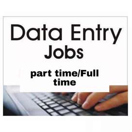 Part time/full time jobs for data entry operator salary fixed