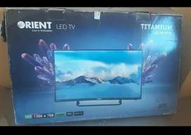 Orient LED TV (Simple) 32 inch, not used much & dish antenna/receiver