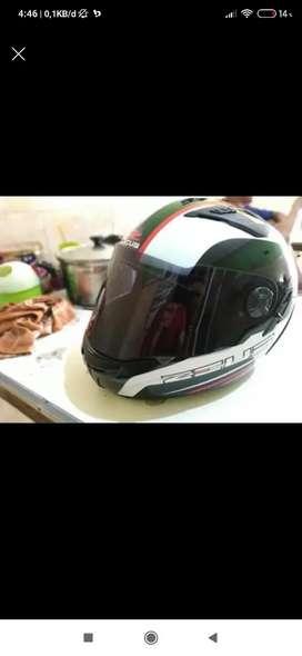 Wts zeus 813 double visor. Bonus flat visor n ori size L