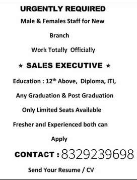 Urgent requirements for official work in new branch