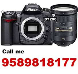 Nikon D7200 with kit lense and 50MM candid lense with 12ft tripodstand