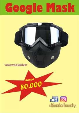 Google mask / masker retro / kacamata helm motor