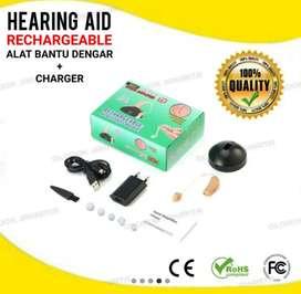 Alat Bantu Dengar Cas model Cantel Telinga.