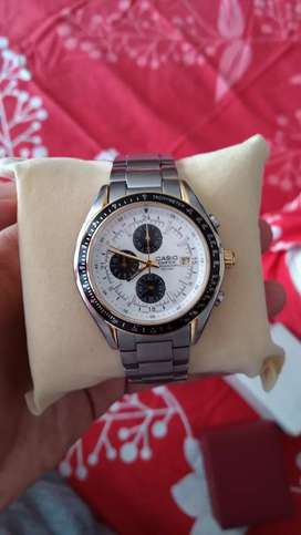 New Casio Edifice EF 503 chronograph watch
