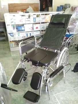 Kursi roda 3in1 crome lansia selonjor tidura bab