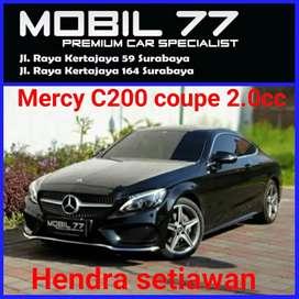 Mercy C200 coupe tahun 2017.