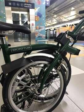 Brompton S6L racing green