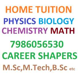 Phy Chem Math Bio -Home TUITION Avail upto 12th level,Qualified tutors