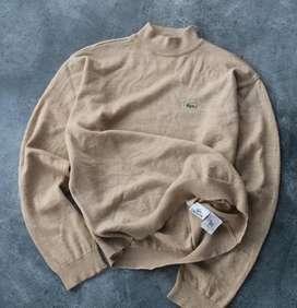 Lacoste Turtleneck Wool Sweater