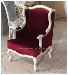 Sofa Single Seater Armschair Merah Maroon