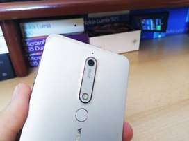 Nokia 6.1 mobile with charger