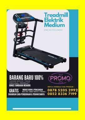 Alat Fitness Gym Treadmill Elektrik 4 Fungsi Fitur Lengkap Murah COD