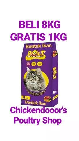 Bolt 8kg kg tuna cat food makanan kucing no acis jio whiskas felibite