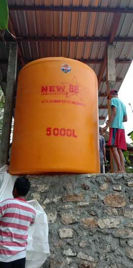 Gudang tandon 5000 liter bahan plastik tebal HDPE