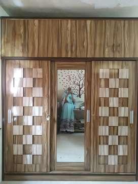Designer Wooden Glossy  Wardrobe