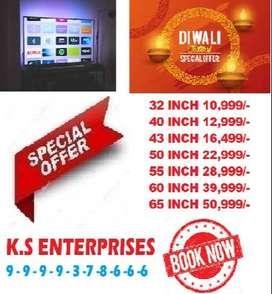 diwali maha sale 60% 50 inch 4k full smart full android led tv