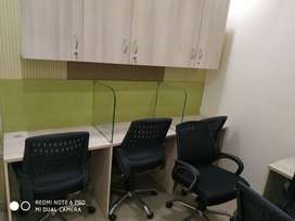 fully furnished office space on rent.