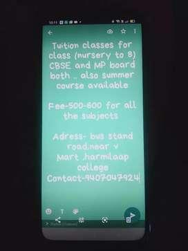 Tuition teaching
