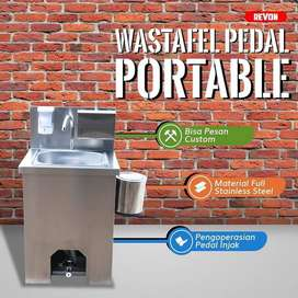 wastafel portable injak stainless premium bisa custom di depok