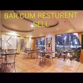 Bar cum resturent sell
