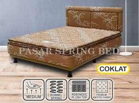 FreeOngkir Spring Bed Musterring MultibedMaster P,TopCoklatHBMH6 90Set