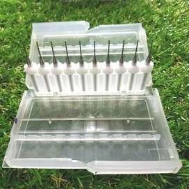Mata bor pcb 0.8mm pcb akrilik plastik isi 10pcs