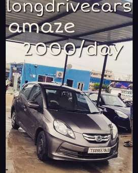 2000/day only Honda amaze self drive cars