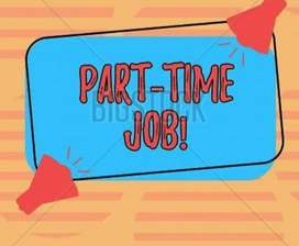 Work from home and work online as part time work