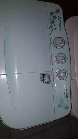 Mesin cuci sharp 2 tabung 80 mw