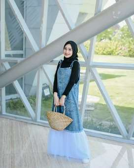 Overall dress , real pict