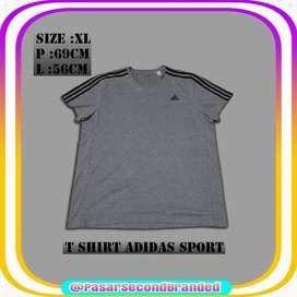 Baju Kaos T Shirt Adidas size XL Made in Thailand Bekas Second